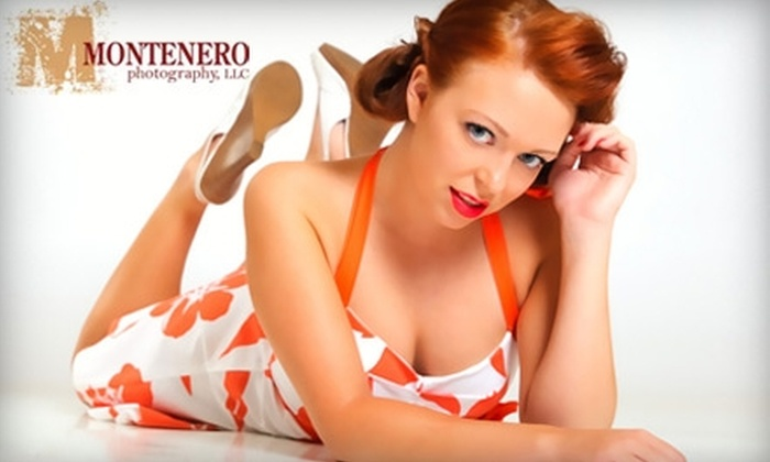 "Montenero Photography - Lawrenceville: $89 for a One-Hour Retro Pin-Up or Boudoir Photo Session and One 8""x10"" Print at Montenero Photography ($199 Value)"