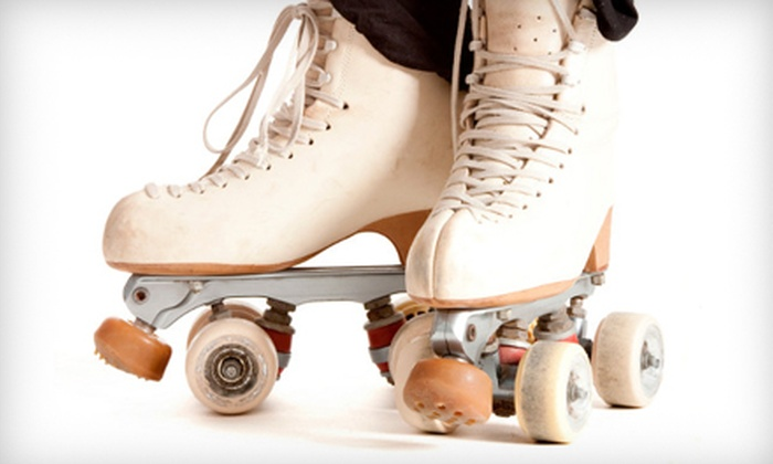 Roller Kingdom - Downtown Reno: Roller-Skating Outing with Skate Rental, Pizza, and Drinks for Two or Four at Roller Kingdom (52% Off)