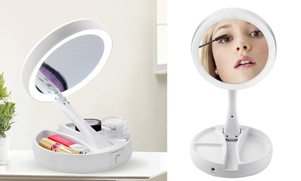 $19 for a LED Illuminated Two Sided Mirror