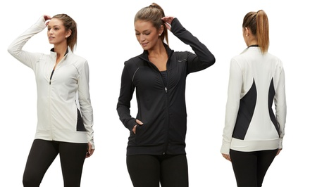 Marika Women's Activewear Jackets in Black or Whisper White. Free Returns.