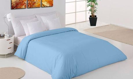 Juego de funda nórdica, sábana bajera y funda de almohada en color liso