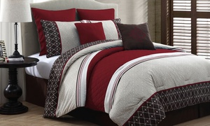 Phyllis Embossed Comforter Set (8-piece)