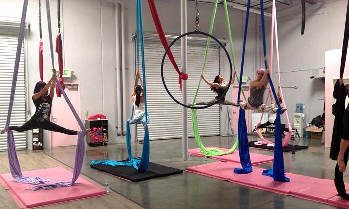 Polecats Aerial Fitness - Polecats Aerial Fitness: Four or Eight Pole Fitness, Aerial Silks, or Lyra Classes at Polecats Aerial Fitness (Up to 68% Off)