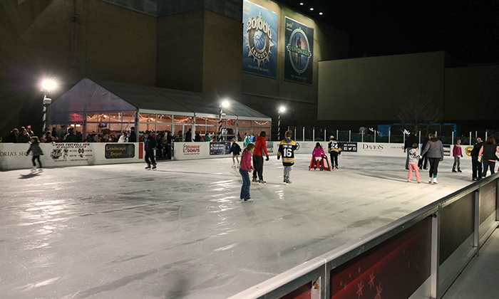 Patriot Place - Patriot Place: Ice Skating with Skate Rentals and Food Vouchers for One, Two, or Four at Patriot Place (Up to 57% Off)