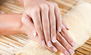 D'Nails & Spa: Spa Mani-Pedi or Shellac Manicure at D'Nails & Spa (Up to 47% Off)