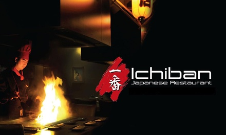 Teppanyaki Set Meal + Drinks $89, 4 $178 or 6 People $267 at Ichiban Japanese Restaurant Up to $534 Value