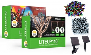 Liteup110 Solar String Lights with Clip and Stake