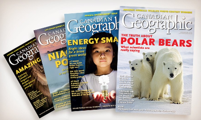 """Canadian Geographic: $14 for a One-Year Subscription to """"Canadian Geographic"""" Magazine ($32.21 Value)"""