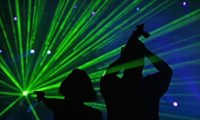 Planet Lazer - Central City: $15 for Four Individual Laser-Tag Games at Planet Lazer (Up to $32 Value)
