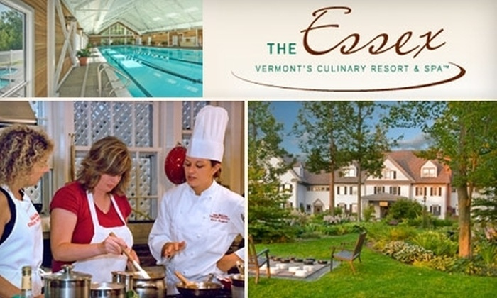 The Essex - Essex Town: $349 for a Two-Night Vermont Getaway for Two, Plus Your Choice of Admission to a Cooking Class or Swedish Massage from The Essex Resort & Spa in Essex (Up to $758 Value)