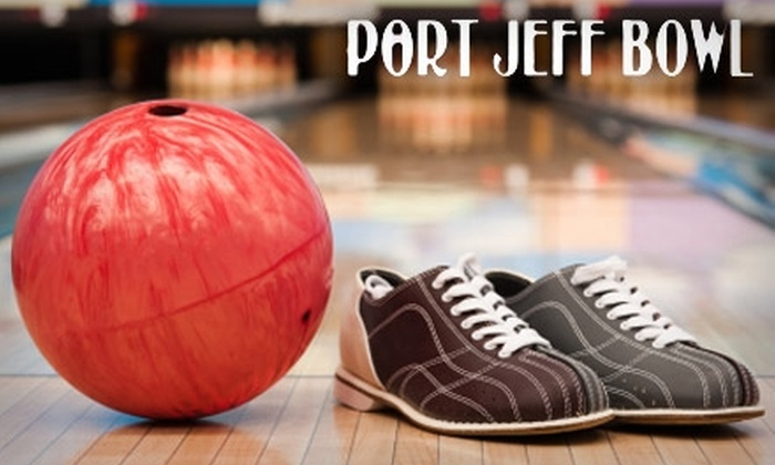 Port Jeff Bowl - Port Jefferson Station: $32 for Two Hours of Bowling for Up to Six People Plus Pizza, Shoe Rental, and Soda at Port Jeff Bowl ($64.95 Value)