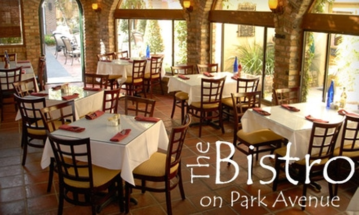 The Bistro on Park Avenue - Winter Park: $20 for $40 Worth of American Bistro Cuisine and Drinks at The Bistro on Park Avenue