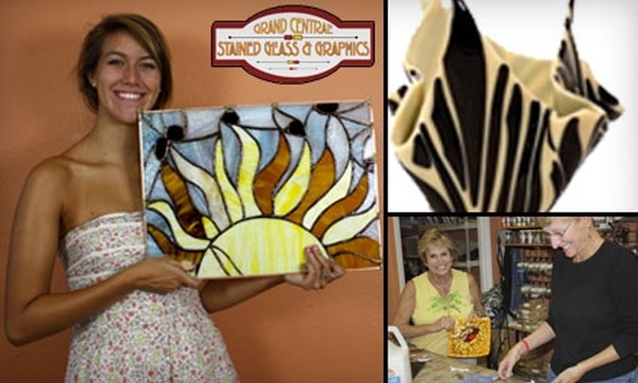 Grand Central Stained Glass & Graphics - St. Petersburg: Stained-Glass or Glass-Fusing Classes at Grand Central Stained Glass & Graphics in St. Petersburg. Choose One of Two Options.