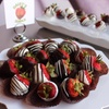 Valentine's Day Organic Chocolate-Covered Fruit or Pretzels (12-Pack)