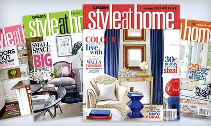 """Style at Home - Downtown Toronto: $11 for a One-Year Subscription to """"Style at Home"""" ($24.95 Value)"""
