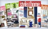 "Style at Home: $11 for a One-Year Subscription to ""Style at Home"" ($24.95 Value)"