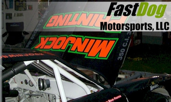 FastDog Motorsports - Smithton: $140 for 12 Laps and Stock-Car Racing Instruction at FastDog Motorsports ($281 Value)