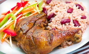 Caribbean Dinner At Jamrock Kitchen And Grill. (up To 51% Off). Two Options Available.