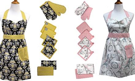 9-Piece 100% Cotton Themed Apron Sets