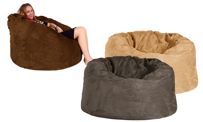 Tremendous Giant Memory Foam Beanbags Groupon Goods Andrewgaddart Wooden Chair Designs For Living Room Andrewgaddartcom