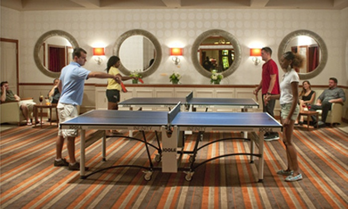 Bogart's Bar & Grille - Blue Lakes: Dinner and Drinks for Two, Four, or Eight Plus One Hour of Table Tennis at Bogart's Bar & Grille (Up to 60% Off)
