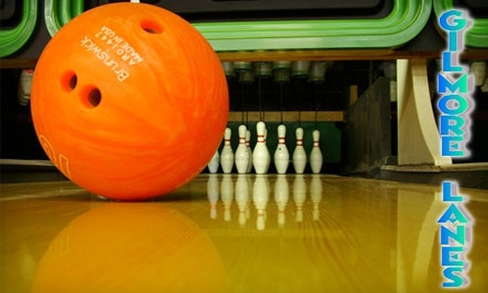 Gilmore Lanes - Fairfield: $6 for Three Games of Bowling and Shoe Rental at Gilmore Lanes (Up to $13.85 Value)