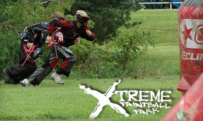 Xtreme Paintball Park - Millstadt: $16 for Admission, Unlimited Air, Equipment, and Ammo at Xtreme Paintball Park ($34 Value) in Millstadt