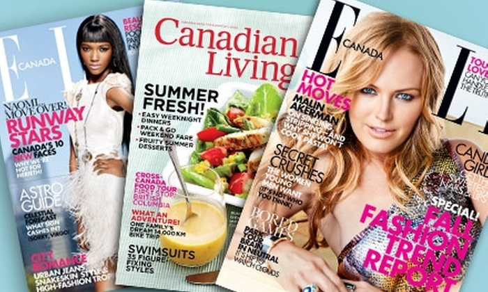 """Canadian Living and Elle Canada - Vancouver: $18 for a One-Year Subscription to """"Canadian Living"""" and """"Elle Canada"""" ($35.98 Value)"""