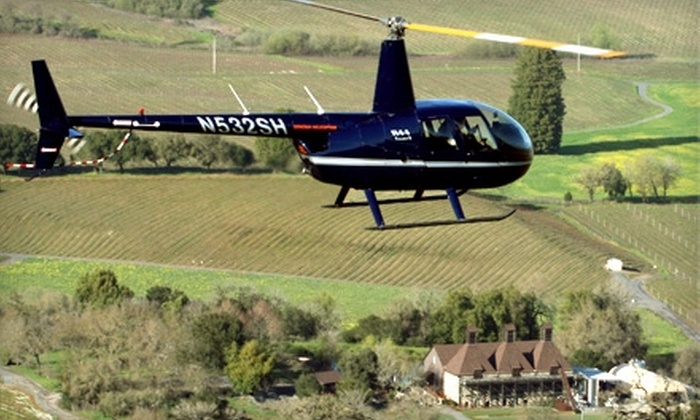 Sonoma Helicopter and Hop Kiln Winery - Santa Rosa: $195 for a Helicopter Ride for Two from Sonoma Helicopter and Wine and Cheese Tasting from Hop Kiln Winery ($400 Value)