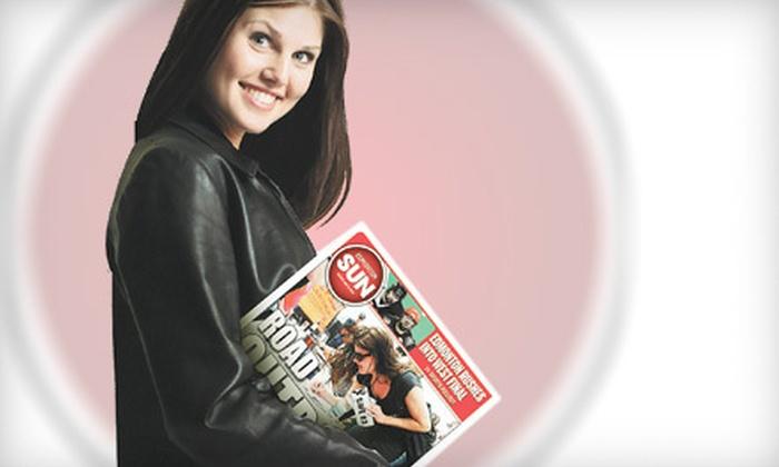"""Edmonton Sun"" - Edmonton: 26 Weeks of Sunday Newspaper or One Year of E-edition from the ""Edmonton Sun"" (Up to 75% Off)"
