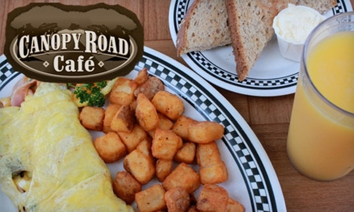 Canopy Road Café - Multiple Locations: $5 for $10 Worth of Breakfast Fare, Sandwiches, and More from Canopy Road Café