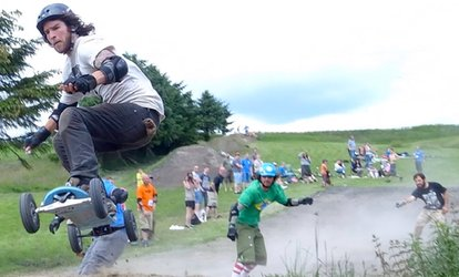 image for Mountain Boarding Lesson For One (from £9.95) or Two (from £19.95) at Hale's Board and Bike Park (Up to 61% Off*)