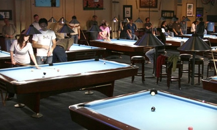 Surf City Billiards & Cafe - Downtown Santa Cruz: $20 for Two Hours of Pool Plus $20 Worth of Classic American Fare and Drinks at Surf City Billiards & Cafe (Up to $44 Value)