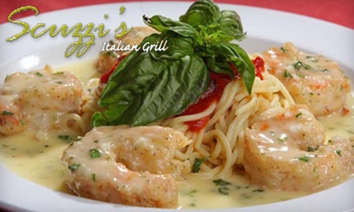 Scuzzi's Italian Grill - Northwest Side: $15 for $30 Toward Dinner at Scuzzi's Italian Grill (or $10 for $20 Toward Lunch)