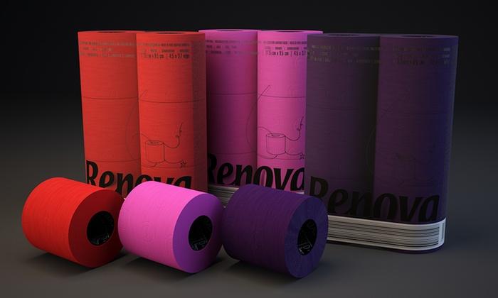 Groupon Goods Global GmbH Six Or Twelve Rolls Of Renova Fuchsia Red Purple