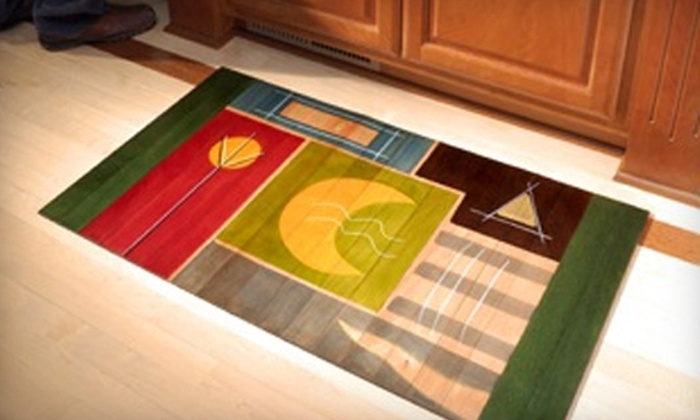 Kakadu Art & Design in Wood - Chevy Chase: $99 for a Hand-Painted 2'x3' Wooden Floor Mat at Kakadu Art & Design in Wood