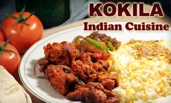 Kokila Indian Cuisine - Lewisville: $20 for $40 Worth of Indian Dinner Cuisine at Kokila Indian Cuisine in Lewisville
