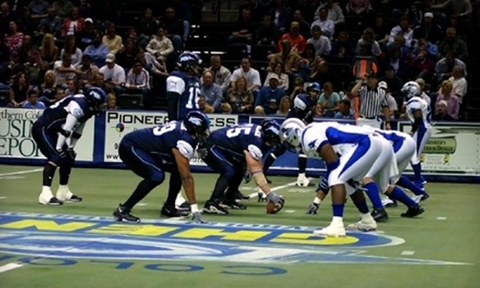 Budweiser Events Center - Loveland: Ticket Packages to Colorado Ice Indoor-Football Game on May 20 in Loveland. Two Options Available.