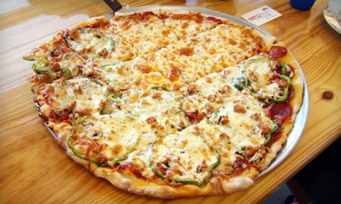 Jimmy's Pizza and Ribs - Granger: Pizza Dinner with Side of Bread or $10 for $20 Worth of Pizza and Barbecue Fare at Jimmy's Pizza and Ribs
