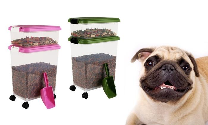 3-Piece Pet-Food Storage Container Set: 3-Piece Pet-Food Storage Container Set. Multiple Colors Available. Free Returns.