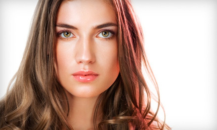 Salon at the Station - Little Silver: Cut, Style, and Blow-Dry with Optional Color or Partial or Full Highlights at Salon at the Station (Up to 78% Off)