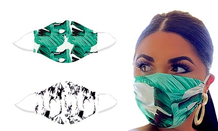 One or Two Marble or Green Leaves Face Masks