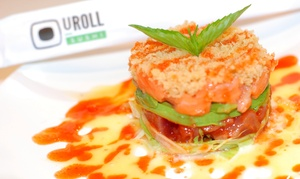 U Roll Sushi: $26 for Two Groupons, Each Good for $20 Worth of Sushi for Two or More at U Roll Sushi ($40 Value)