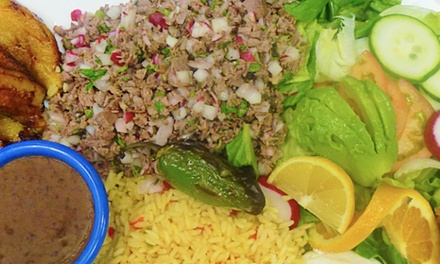 $11 for $20 Worth of Salvadoran Cuisine for Two or More at Salpicon Salvadoran Restaurant