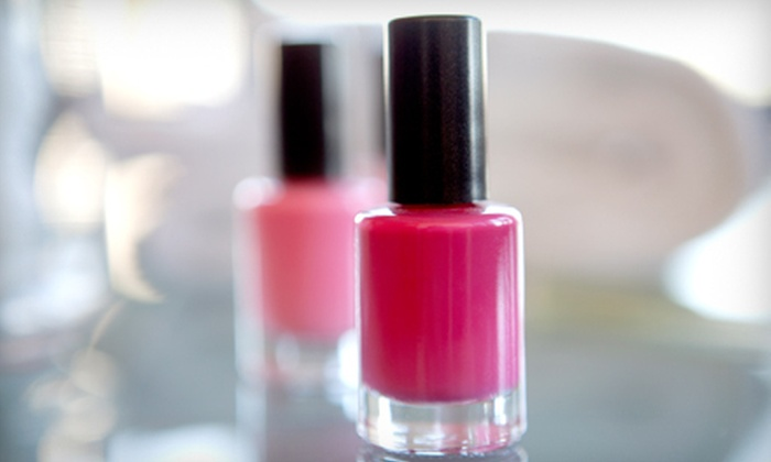 Passions for Hair & Spa - Downtown Santa Rosa: Full Set of Pink-and-White Nails or an Ultimate Pedicure and Gelish Manicure at Passions for Hair & Spa (Up to 54% Off)
