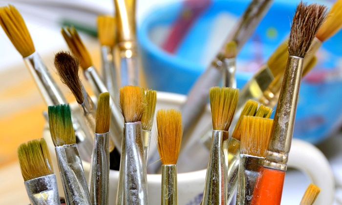 Sunshine Gifts & Ceramic Art Studio - Englewood: BYOB Canvas-Painting Class or Paint-Your-Own Pottery at Sunshine Gifts & Ceramic Art Studio (Up to53% Off)