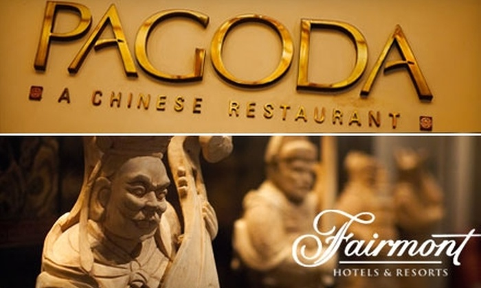 Pagoda Restaurant - Downtown San Jose: $20 for $40 Worth of Asian Cuisine and Drinks at Pagoda in the Fairmont Hotel