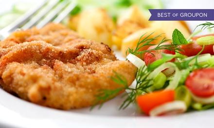 Org. Wiener Schnitzel od. Schweine-Schnitzel nach Wahl mit Beilagen für 2 od. 4 Pers. im StadtWIRT (bis zu 53% sparen*)