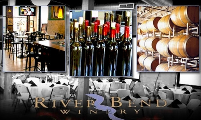 River Bend Winery - Central Business District: $20 for Two Bottles of Wine and a Tasting for You and a Friend