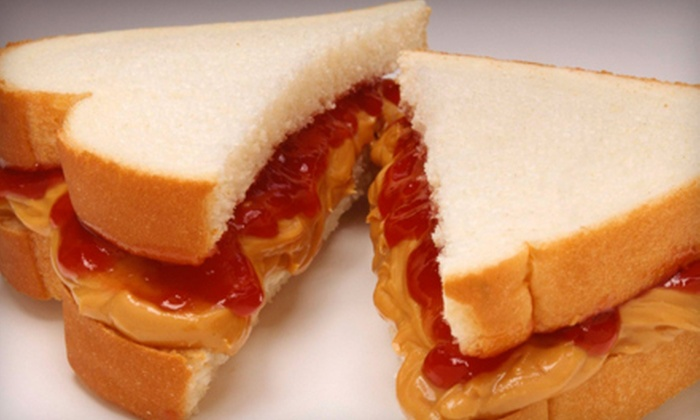 The PBJ Shop - Central Business District: $12 for Five Brown-Bag Lunch Punchcard with Sandwich, Chips, and a Drink from The PBJ Shop ($25 Value)